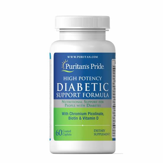 Puritan's Pride Diabetic Support Formula - 60 Caps