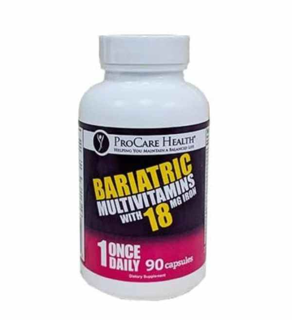 Procare Health Bariatric Multivitamins 18mg Iron - 30 Caps