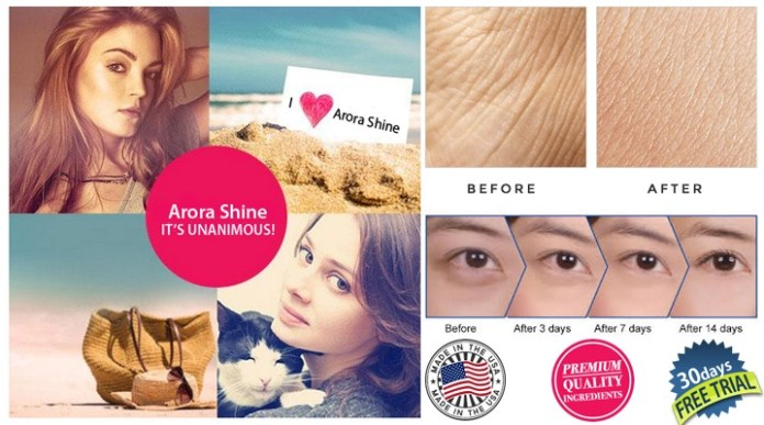 Arora shine Beauty cream Ingredients