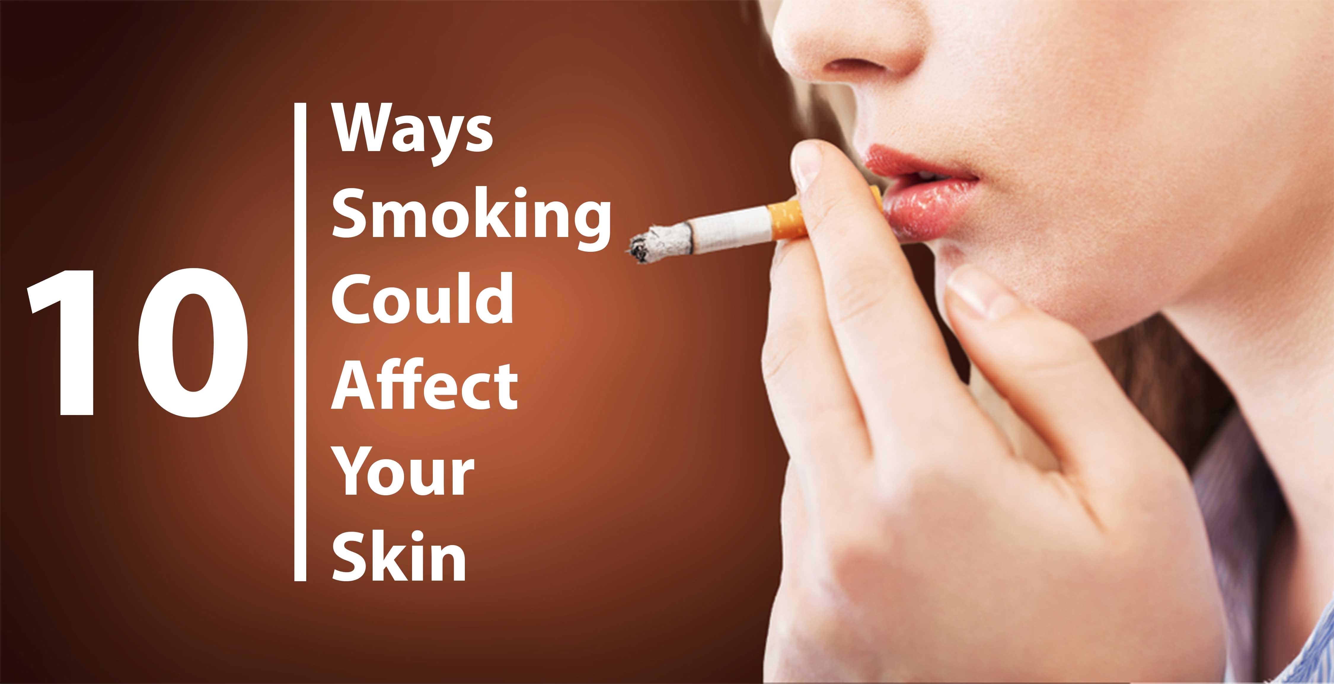 Facial effects of smoking — 12