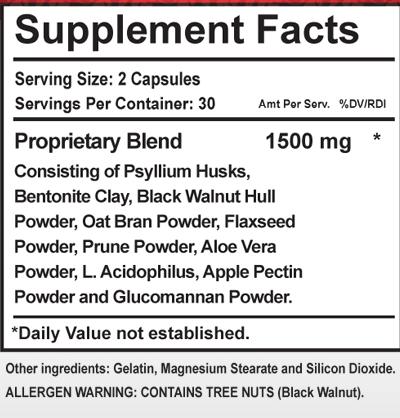 Internal 911 Ingredients