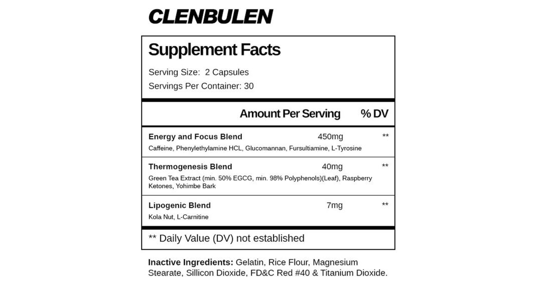 MaxGains Clenbulen Supplement