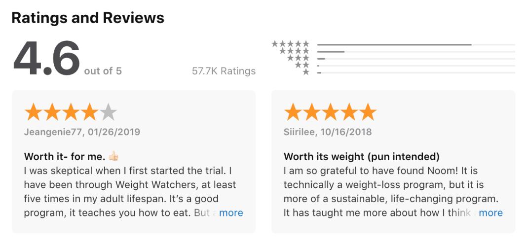 Noom Customer Reviews