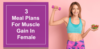 3 Meal Plans For Weight Loss And Muscle Gain In Female