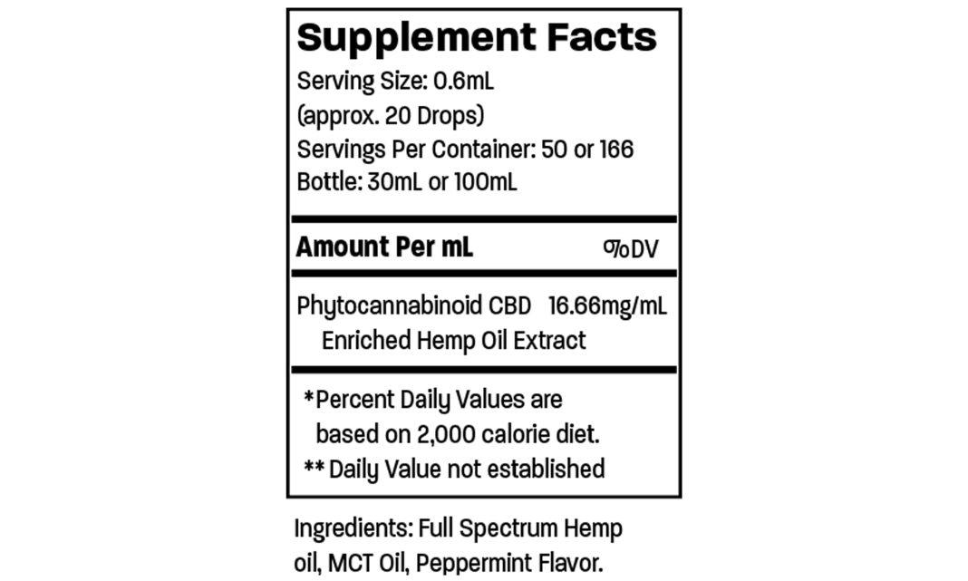 Wild Things CBD Oil Ingredients
