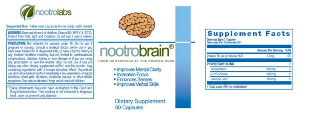 nootrobrain label
