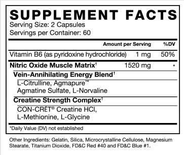 VolcaNO Ingredients