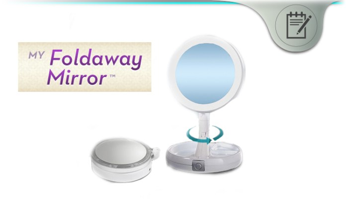 My Foldaway Mirror Review Lighted Double Sided Vanity