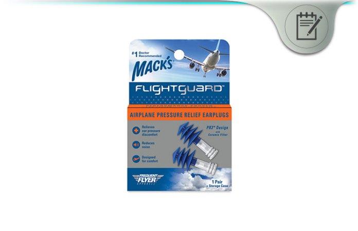 Mack's Flightguard PR3 Airplane Pressure Relief Ear Plugs