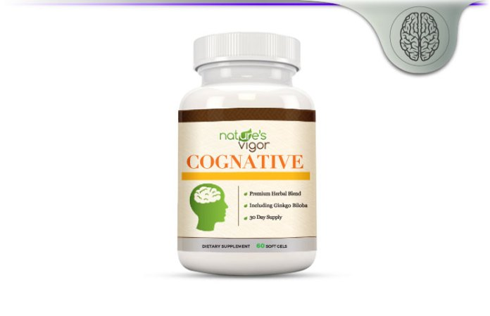 Natures Vigor Cognative Brain Formula