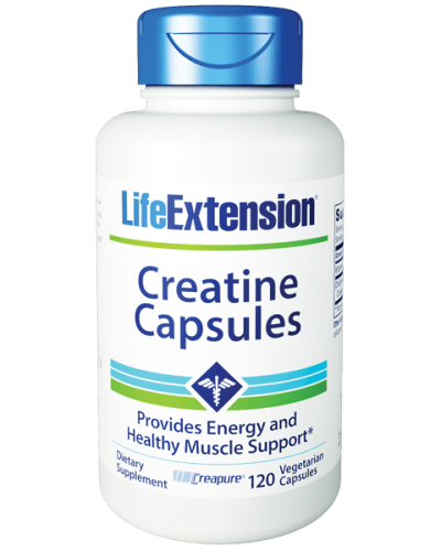 Life Extension Creatine 120 Cap Bottle