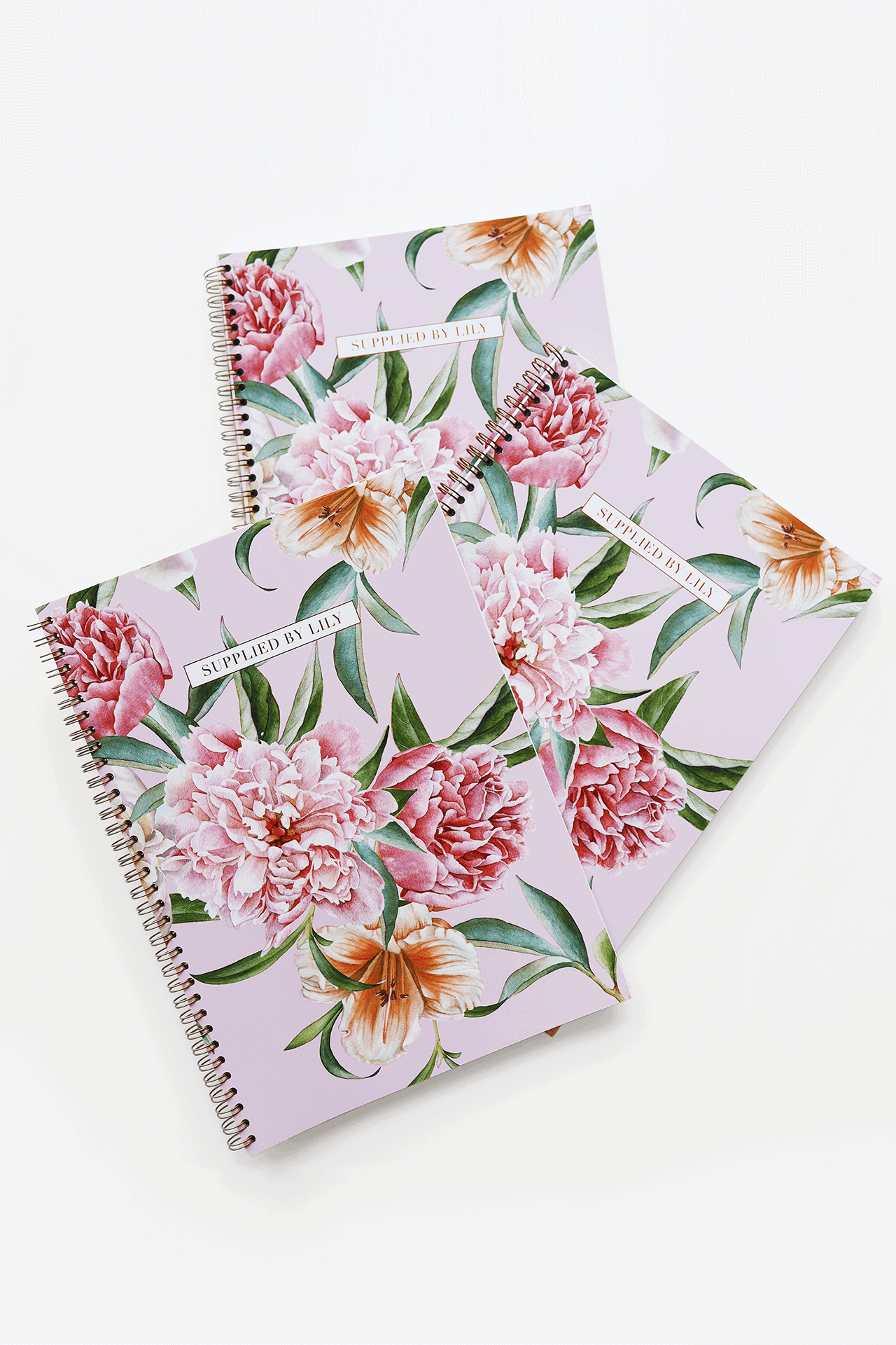 Supplied by Lily A4 Spiral Notebook in Luxurious Blush Floral-2