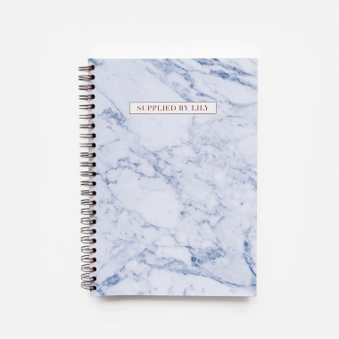 A5 Spiral Notebook in Luxurious Marble
