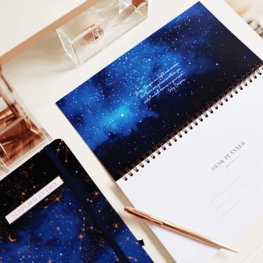 Lifestyle Desk Planner in Luxurious Astrology (Limited Edition)