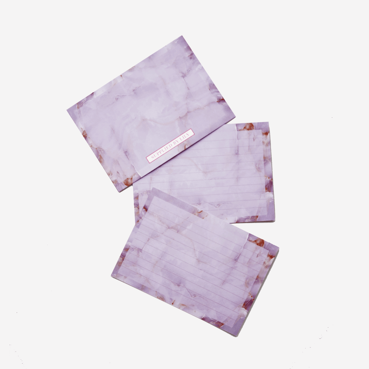 Flashcards Set in Luxurious Amethyst (50 pcs)