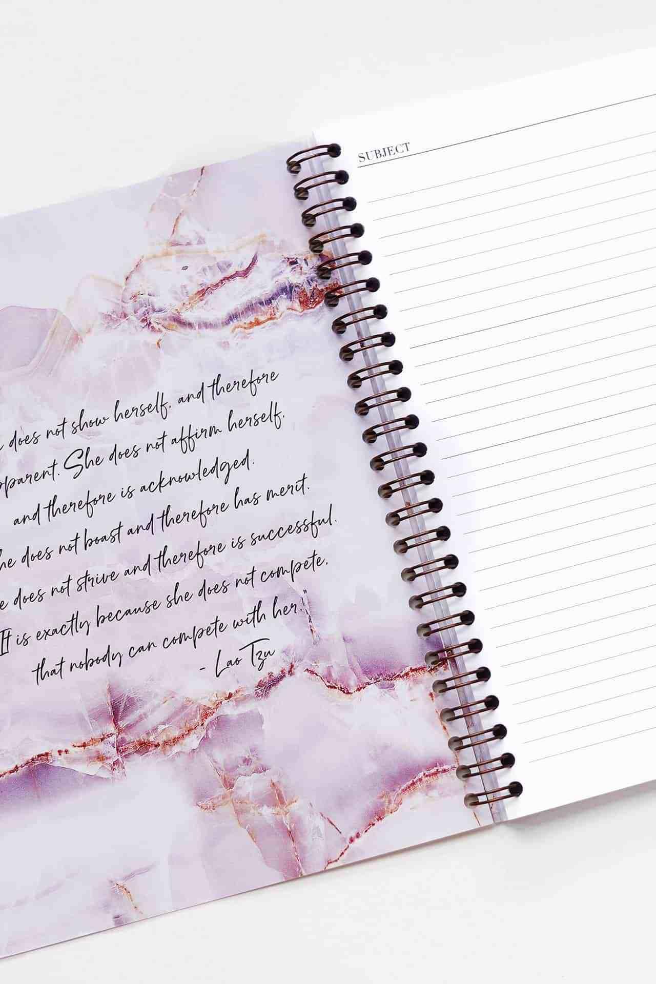 A5 Spiral Notebook in Luxurious Amethyst