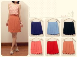 #3073.2 Scallop skirt @59 - seri3pcs Rp158rb - woolcrepe fit to L
