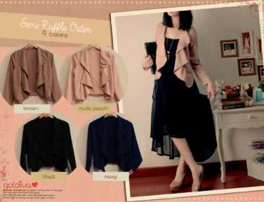 Semi Ruffle Outer • @62 • seri4pcs Rp222rb • twiscone • free size