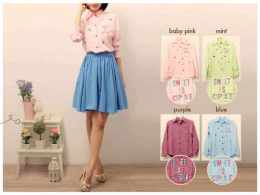 LL098 Bkk Twistcone + bordir Fit to L - ecer @61rb - seri4pcs 220rb