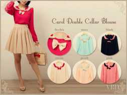 Carol Double Collar Blouse - ecer@61rb - seri6w 330rb - twiscone