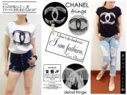 Chanel Fringe Tee - bahan kaos fit to L - ecer @42rb - seri4pcs 140rb