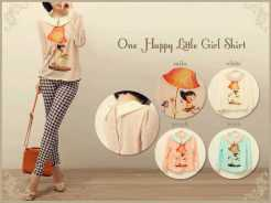 One Happy Little Girl - bahan twistcone fit to L - ecer @62 - seri4pcs 224rb