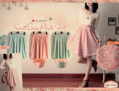 sweet lacey skirt - ecer @62rb - bahan lace silk furring