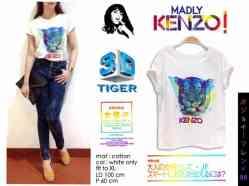 Kenzo 3D Tiger - bahan Kaos fit to XL - ecer@47rb - seri3pc 123rb