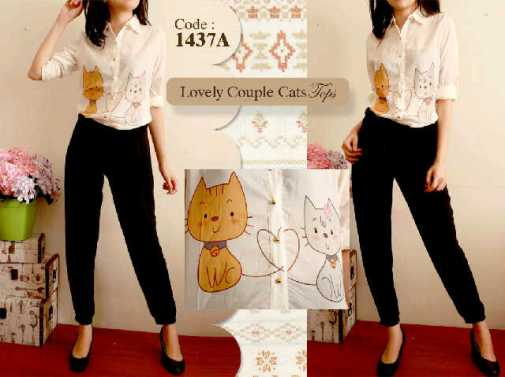 Lovely couple cat top - ecer@59rb - seri3pcs 159rb