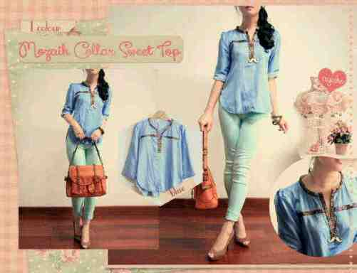 Mozaik - ecer@54 - seri3pcs 144rb - bahan denim - fit L