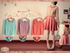 pointy colar ribbon back - ecer@61 - seri4w 220rb - twiscone