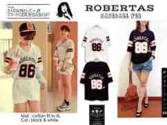Robertas Baseball Tee - bahan kaos fit to XL - ecer@40 - seri4pc 136rb