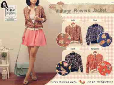 Vintage Flower Jacket - ecer@62 - seri4w 224rb - twistcone