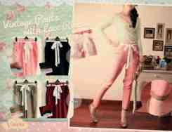 Vintage Pants with Lace Ribbon - ecer@62 - seri4w 224rb - bhn katun rayon adem blkg karet fit to L