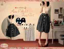 mono polka skirt - ecer@60rb - seri4pcs 220rb - twiscone full furing