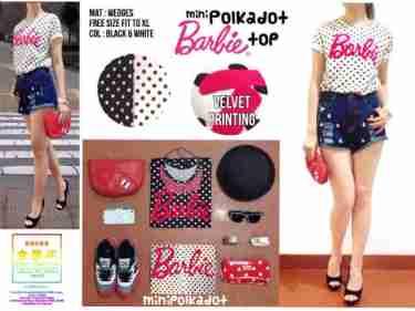 Barbie Polkadot - ecer@43rb - seri4pcs 152rb -Wedges - fit to XL,