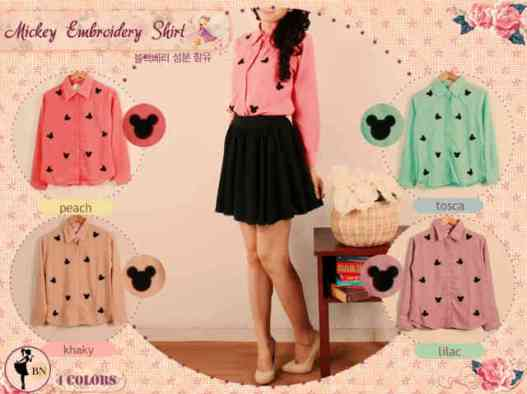 Mickey Embroidery - ecer@60rb - seri4pcs 216rb