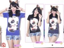 Baby Panda Tee - ecer@40rb - seri3w 105rb - kaos - fit to L
