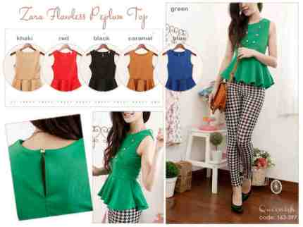 Flawless Peplum- ecer@60 - seri 6w 324rb - stretchable soft wedges + side zip - fit to M