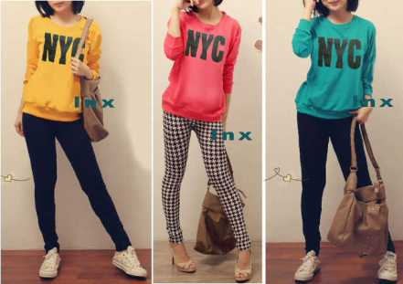 NYC Sweater - ecer@50rb - seri3w 135rb - babyterry - fit to XL