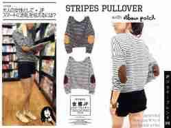 Stripe Pullover - bahan Spandex - fit to XL - ecer@50rb - seri4pcs 180rb