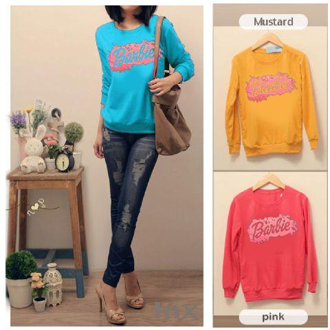 Barbie Splash Sweater - ecer@49rb - seri3w 129rb - babyterry - fit to xl