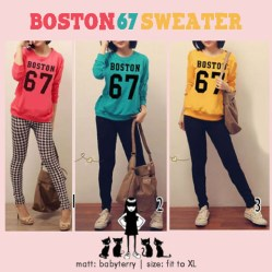 BOSTON67 - ecer@49rb - seri3w 129rb - bahan babytery - fit to XL