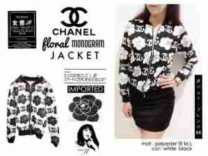 IMPORT - Chanel Floral Jacket - ecer@90rb - seri2w 170rb - polyester stretch +digital print - fit to XL