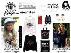 Kenzo Eyes Sweatshirt - ecer@55rb - seri4pcs 200rb - bahan Babyteri - fit to XL