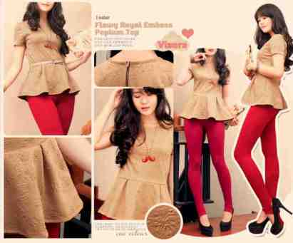 Flowy Royal Emboss Peplum - ecer@72rb - seri3pcs 198rb - wedges emboss - fit to L