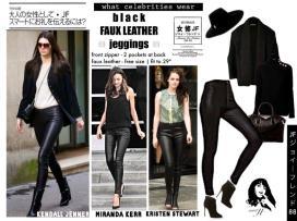 Leather Jegging - ecer@65rb - seri3pcs 180rb - bahan kulit imitasi + zipper - fit to sz29!