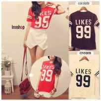 Likes Tee - ecer@39rb - seri3w 99rb - bahan kaos - fit to L