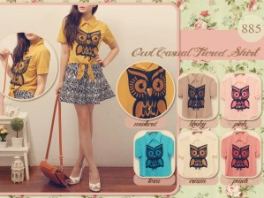 Owl Casual Shirt - ecer@60rb - seri6w 330rb - fabric import - fit to L