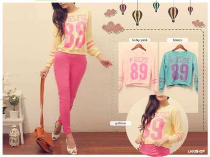 Selfie Crop Sweater - ecer@49rb - seri3w 129rb - babytery - fit to L